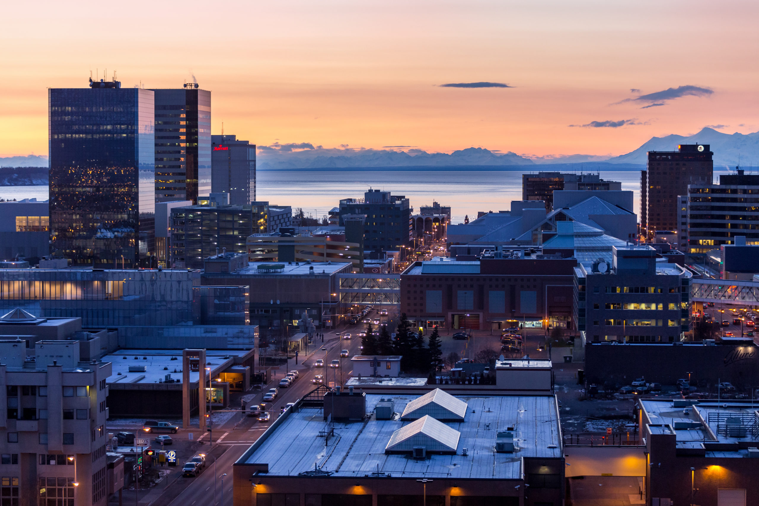 Anchorage, Alaska. Cityscape.