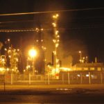 Nighttime image of US Oil Refinery in Tacoma
